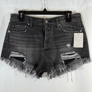 Free People Good Vibrations Cutoff Denim Shorts